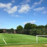 football pitch on sunny day