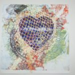 heart with mesh drawing