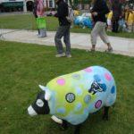 outside ornament of a sheep