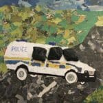 art work of a riot van