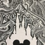 silhouette of mickey mouse disney character