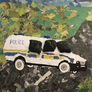 police van painting