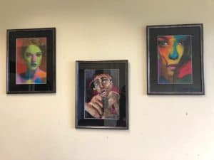 pictures on a wall